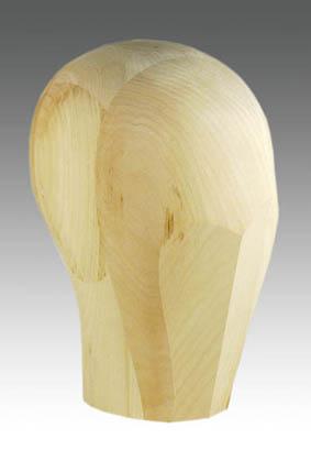 Drewniana główka perukarska
