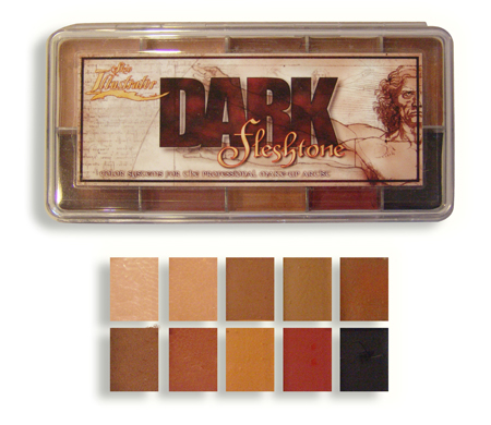 Skin Illustrator DARK Flesh Tone Palette