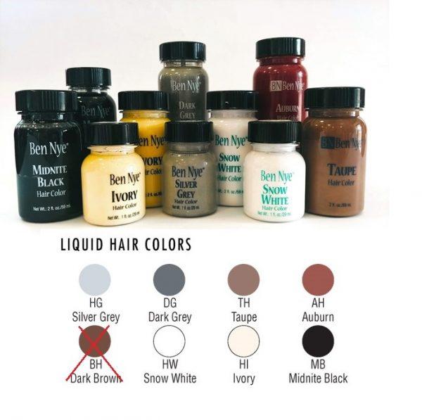 Ben Nye Liquid Hair Colors